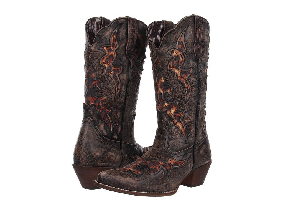 Laredo Aphfrika (Black-Tan Crackle Goat/Leopard) Cowboy Boots