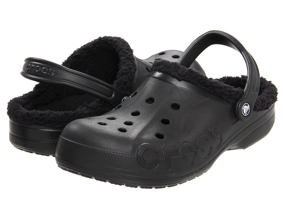 Crocs - Baya Lined (Black/Black) Clog/Mule Shoes