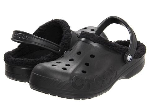 Crocs - Baya Lined (Black/Black) Clog/Mule Shoes