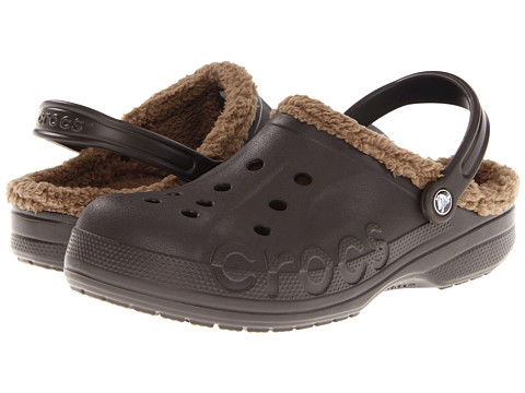 Crocs - Baya Lined (Espresso/Khaki) Clog/Mule Shoes