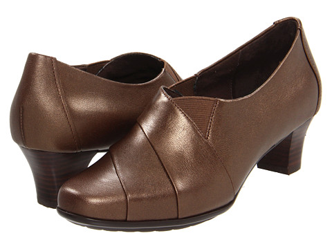 Aravon - Elizabeth (Bronze) Women's Slip on Shoes