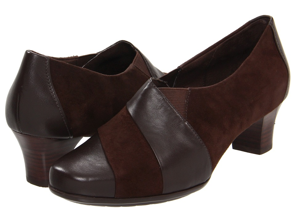 Aravon - Elizabeth (Brown) Women's Slip on Shoes