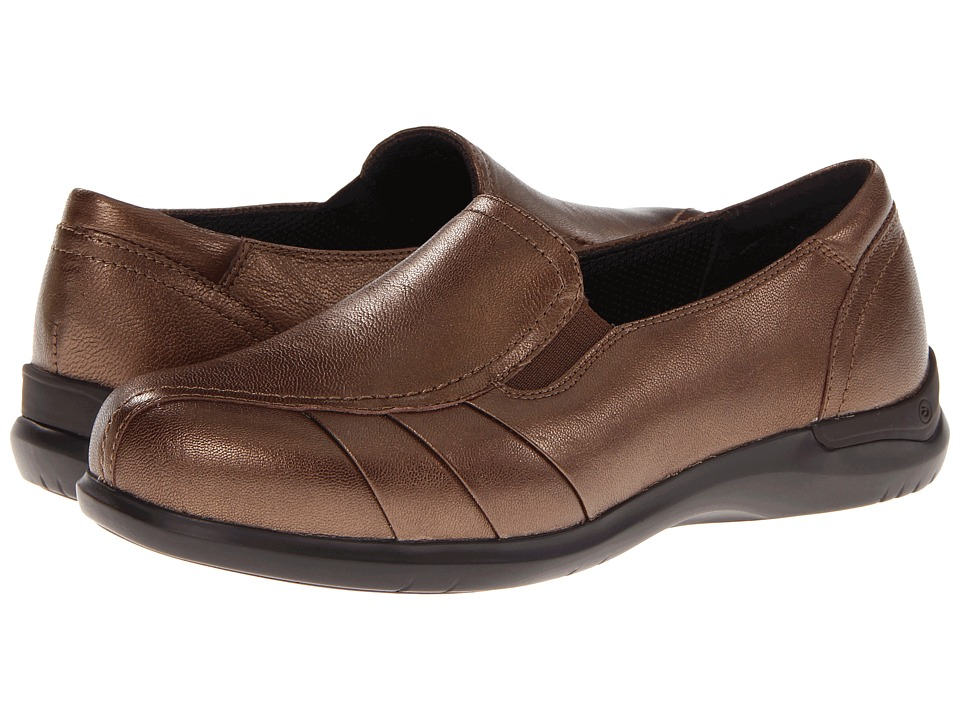 Aravon - Faith (Bronze) Women's Slip on Shoes