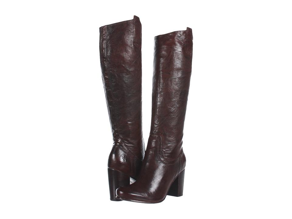 Frye Carson Heel Tab Dark Brown Antique Soft Full Grain Cowboy Boots