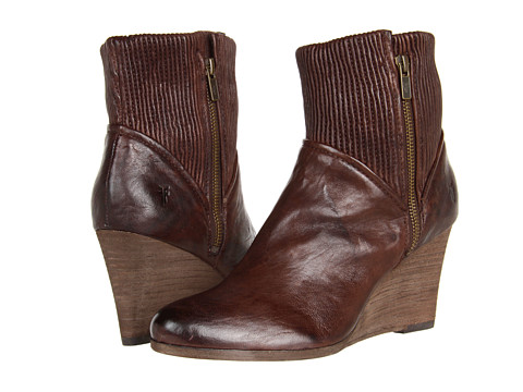Frye - Corby Side Zip (Dark Brown Antique Soft Full Grain) Women