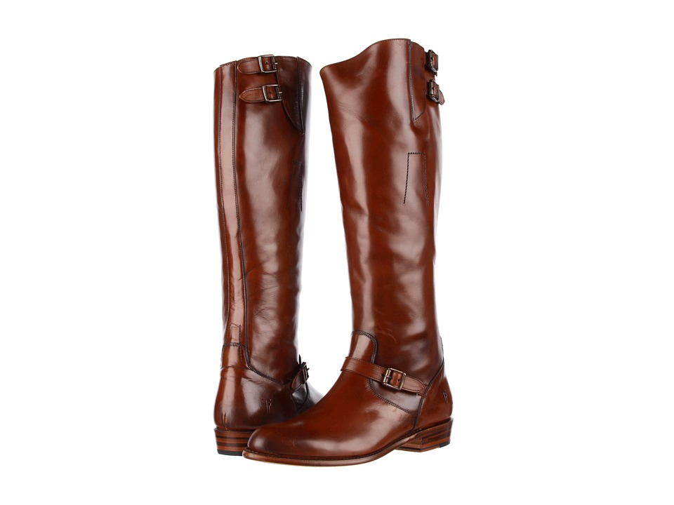 Frye - Dorado Buckle Riding (Whiskey Smooth Polished Veg) Women's Dress Pull-on Boots