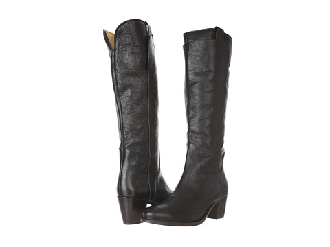 Frye - Jackie Tall Riding (Black Calf Shine) Cowboy Boots