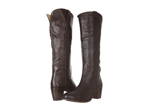 Frye - Jackie Tall Riding (Dark Brown Calf Shine) Cowboy Boots