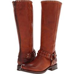 Frye Jenna Stud Harness (Whiskey Vintage Veg Tan) Footwear
