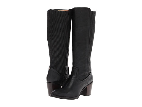 Frye - Lucinda Scrunch (Black Antique Soft Full Grain) Women's Pull-on Boots
