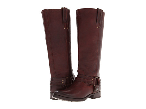 Frye - Melissa Harness (Dark Brown Vintage Veg Tan) Women's Pull-on Boots