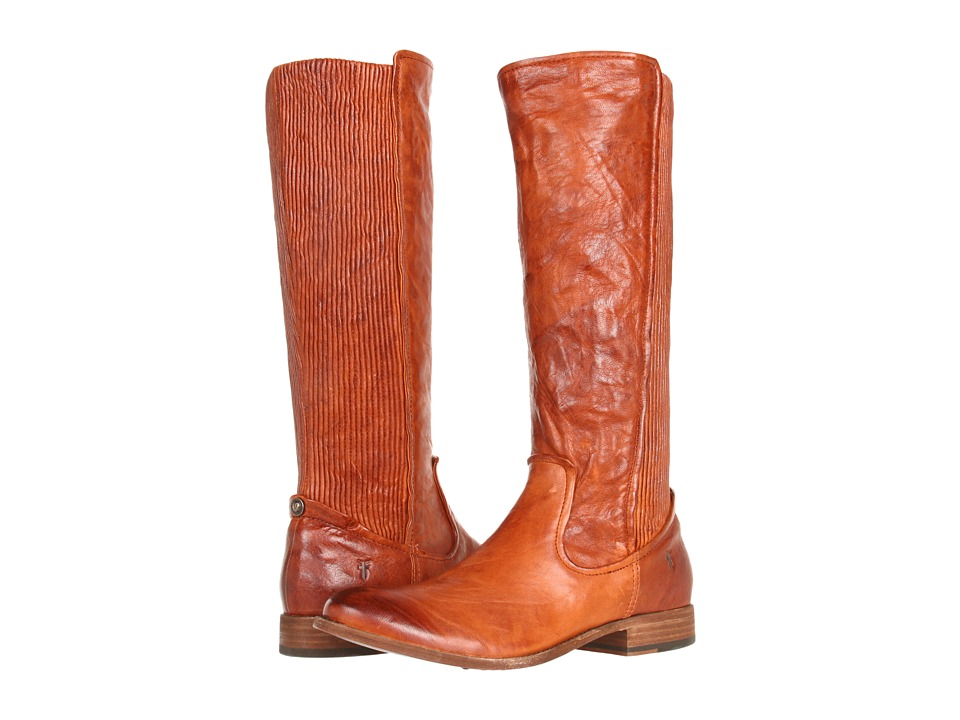 Frye - Melissa Scrunch (Cognac Antique Soft Full Grain) Women
