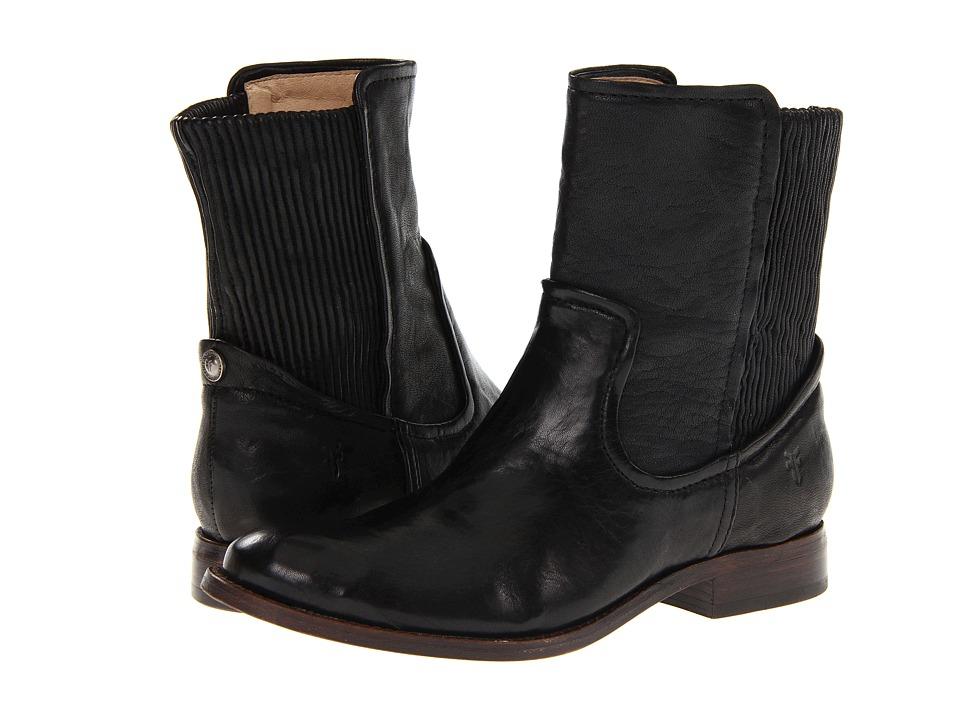 Frye - Melissa Scrunch Short (Black Antique Soft Full Grain) Women's Pull-on Boots