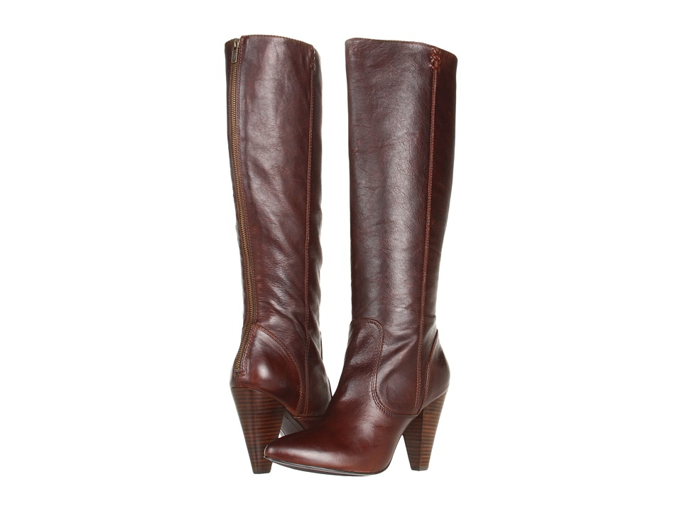 Frye - Regina Zip Boot (Dark Brown Soft Vintage Leather) Women's Dress Zip Boots