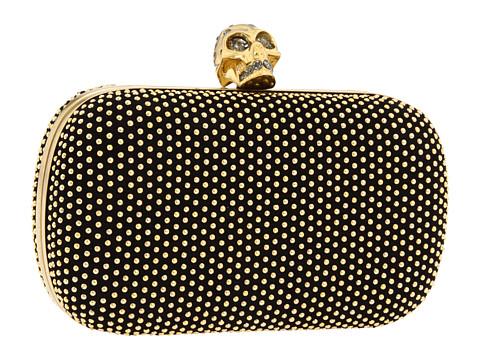 Alexander McQueen - Classic Skull w/ Strap (Black) Clutch Handbags