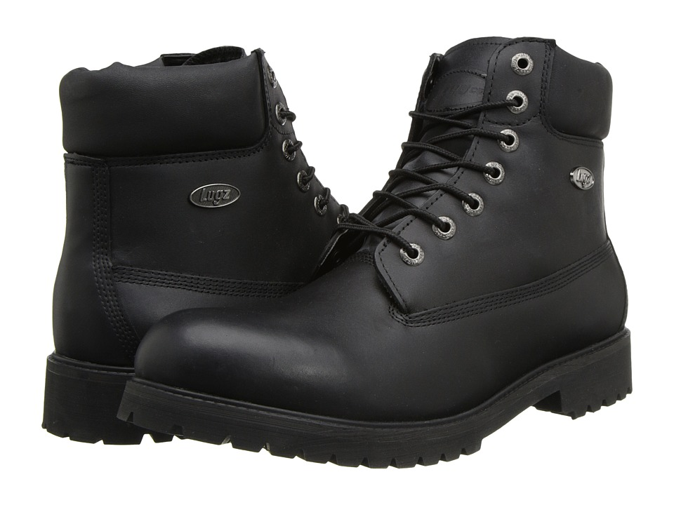 Lugz - Drifter 6 (Black Leather) Men's Boots