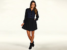 Juicy Couture - Colorblock Shirt Dress (Black) - Apparel