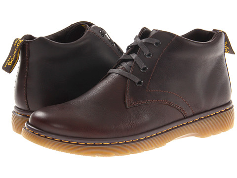 Dr. Martens - Barnie Chukka Boot (Dark Brown) Men's Lace-up Boots