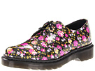 Dr. Martens - 1461 3-Eye Shoe (Black Patent PU Rose) - Footwear