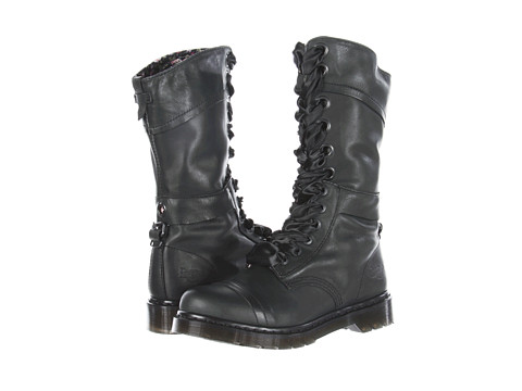 Dr. Martens - Triumph 1914 W 14-Eye Boot (Black/Rose Darkened Mirage) Women