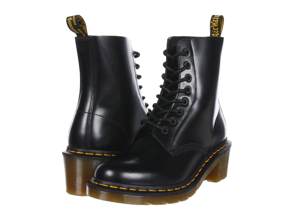 Dr. Martens - Clemency 8-Tie Boot (Black Smooth) Women's Lace-up Boots