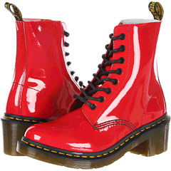 Dr. Martens Clemency 8-Tie Boot (Red Patent Lamper) Women's Lace-up Boots