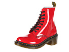 Dr. Martens - Clemency 8-Tie Boot (Red Patent Lamper) - Footwear