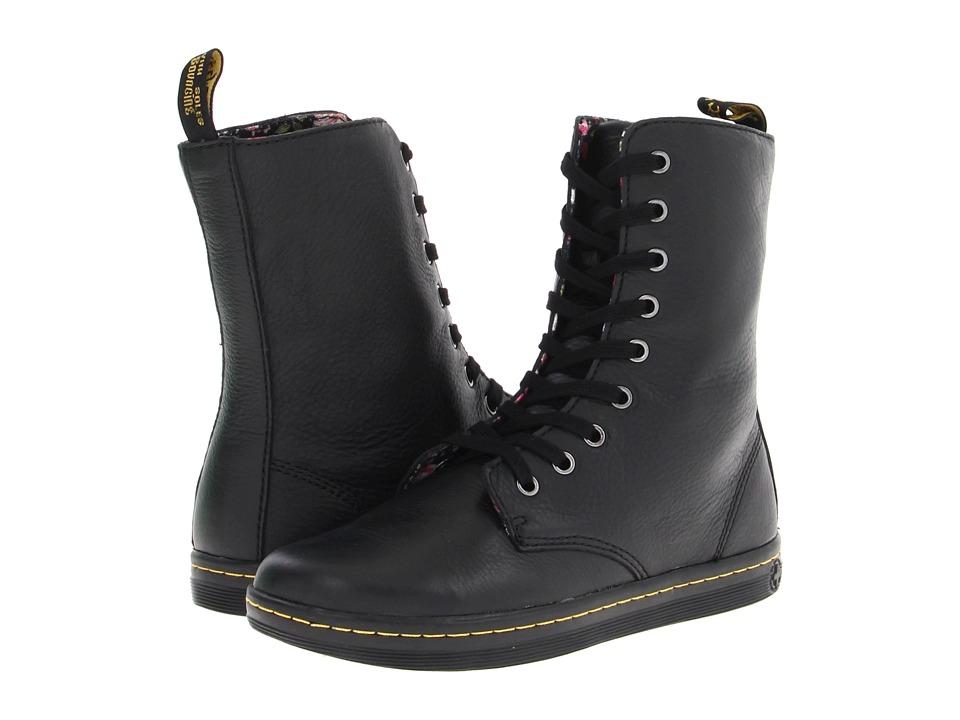 Dr. Martens - Stratford 9-Eye Fold Down Boot (Black) Women
