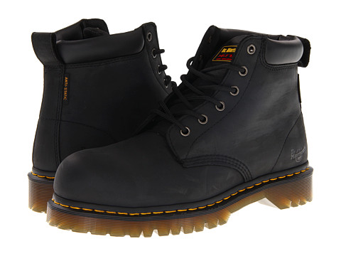 Dr. Martens Work - Forge ST 6 Eye Boot (Black) Men's Lace-up Boots