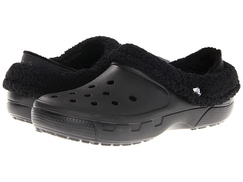 Crocs - Mammoth Core Full Collar (Black/Black) Clog Shoes