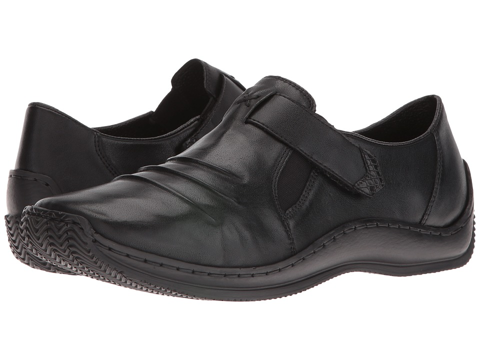 Rieker - L1763 Celia 63 (Black) Women's Slip on Shoes