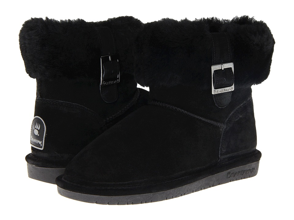 Bearpaw - Abby (Black) Women's Pull-on Boots