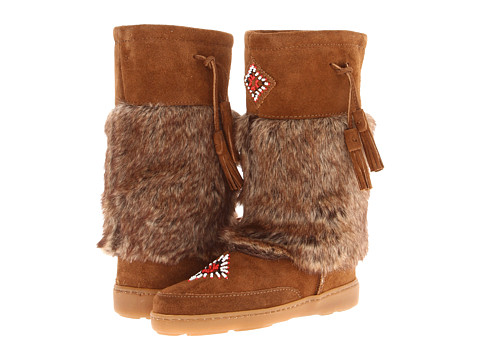 Minnetonka - Mukluk High (Dusty Brown Suede) Women's Pull-on Boots