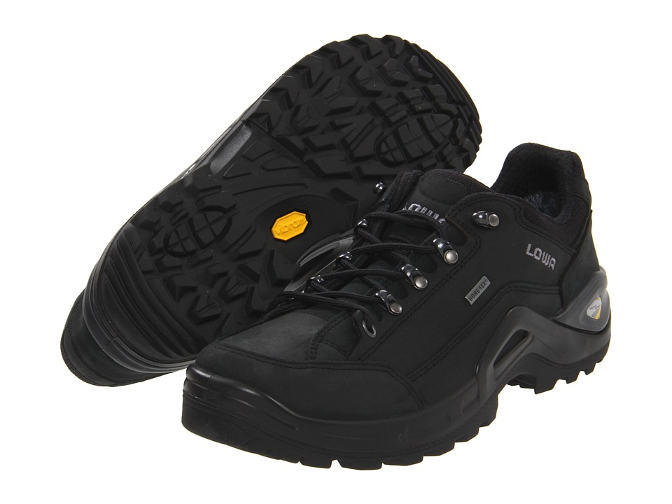 Lowa - Renegade II GTX Lo (Black/Black) Men's Shoes