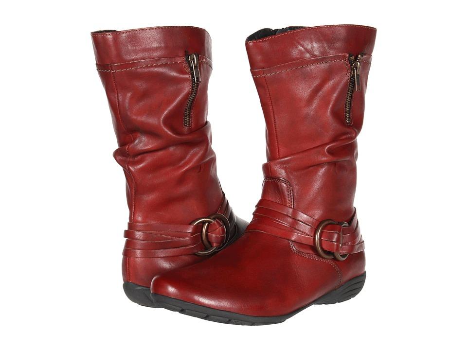 Rieker - D8972 Dena 72 (Red Leather) Women