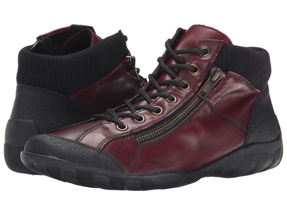 Rieker - R3456 Liv 56 (Schwarz Jura/Chainti Cristallino/Schwarz Fineknit) Women's Lace up casual Shoes