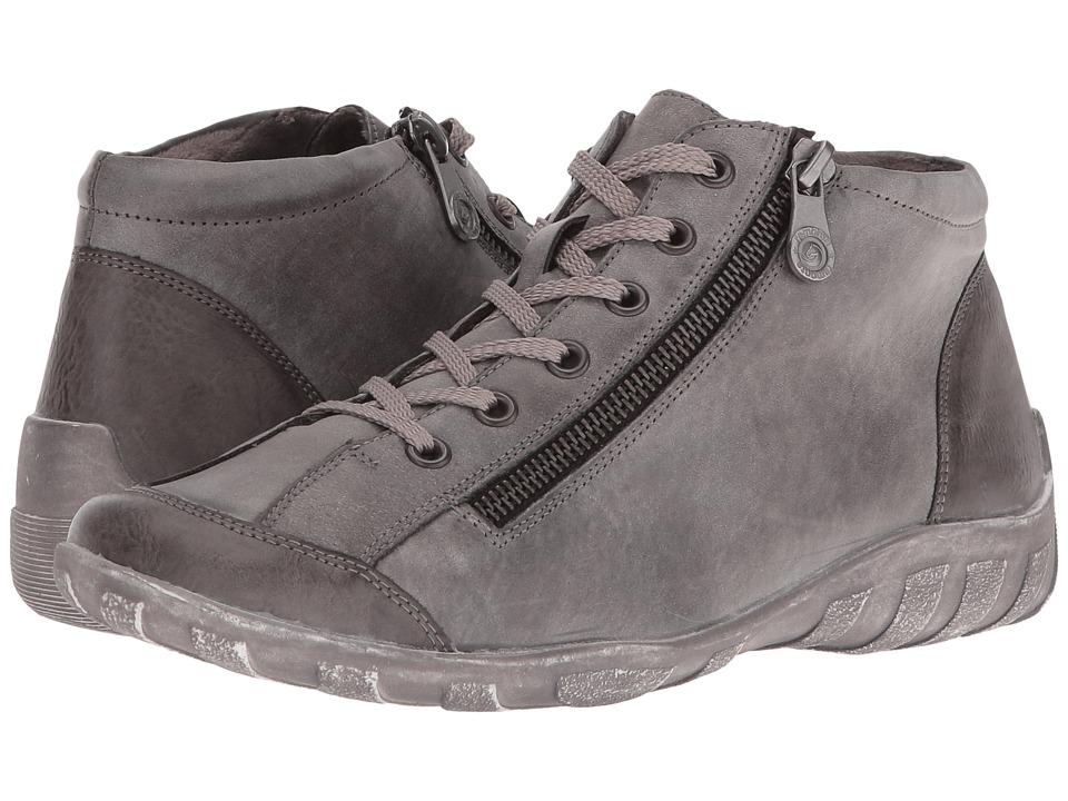 Rieker - R3475 Liv 75 (Grey Combo) Women's Zip Boots