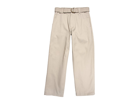 U.S. POLO ASSN. Kids - Flat Front Pant (Big Kids) (Khaki) Boy