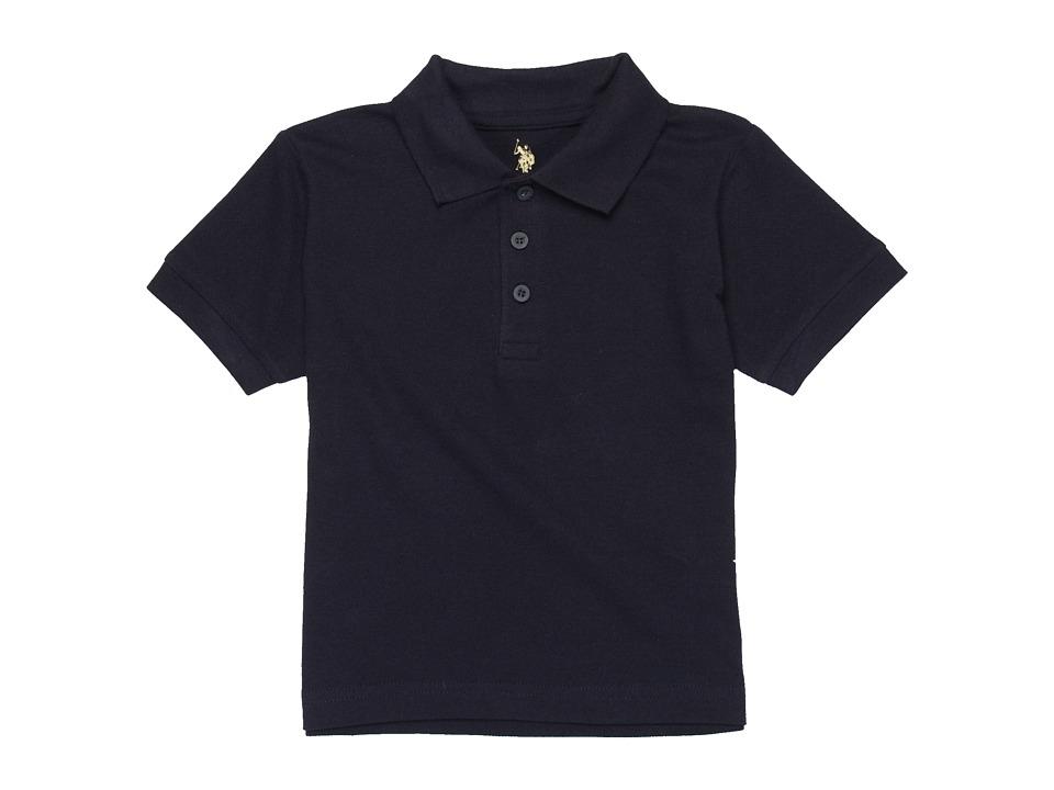 U.S. POLO ASSN. Kids - S/S Polo (Little Kids) (Navy) Boy's Short Sleeve Knit