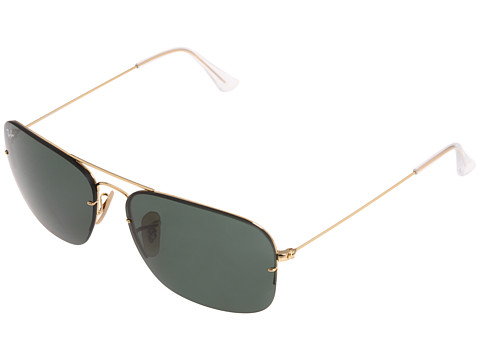 Ray-Ban - RB3482 Large 59mm (Arista Green) Fashion Sunglasses