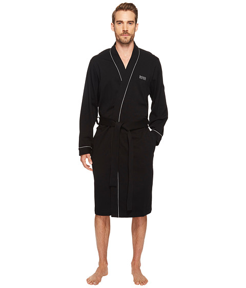 BOSS Hugo Boss - Innovation 1 Cotton Kimono Robe (Black) Men's Robe
