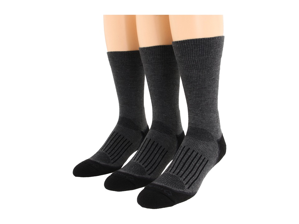 Fox River - Trail Crew 3-Pair Pack (Dark Grey) Crew Cut Socks Shoes