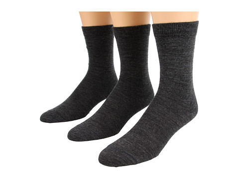 Fox River - Basic Crew 3-Pair Pack (Dark Charcoal) Women's Crew Cut Socks Shoes