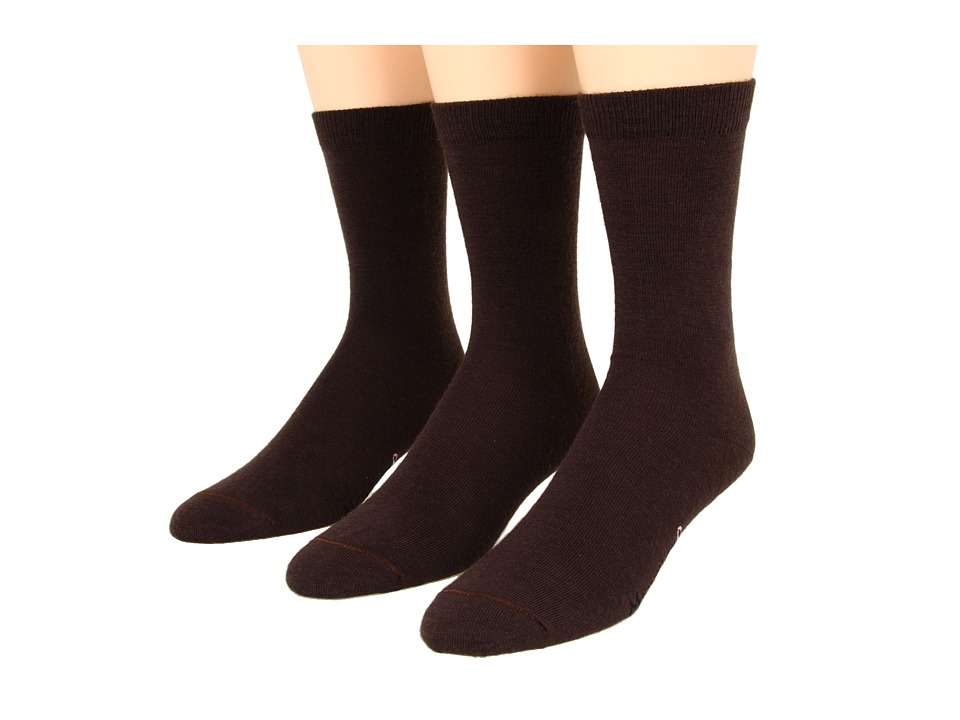 Fox River - Basic Crew 3-Pair Pack (Chestnut) Women's Crew Cut Socks Shoes