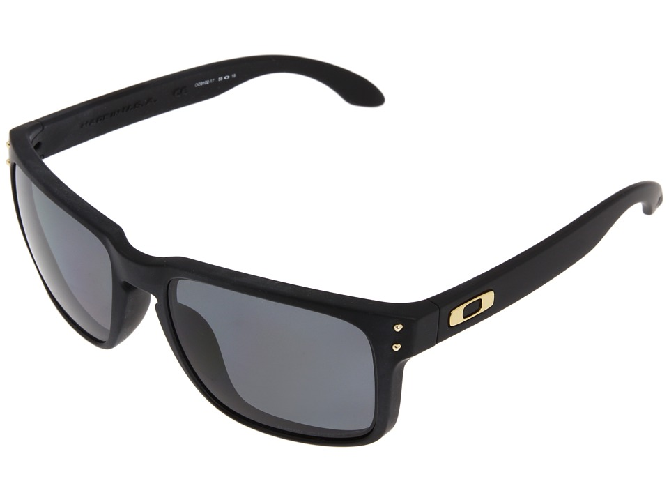 Oakley - Holbrook Polarized (Shaun White Gold Series Matte Black w/Grey Polarized) Sport Sunglasses