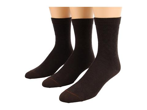 Fox River - Pointelle Crew 3-Pair Pack (Chestnut) Women's Crew Cut Socks Shoes