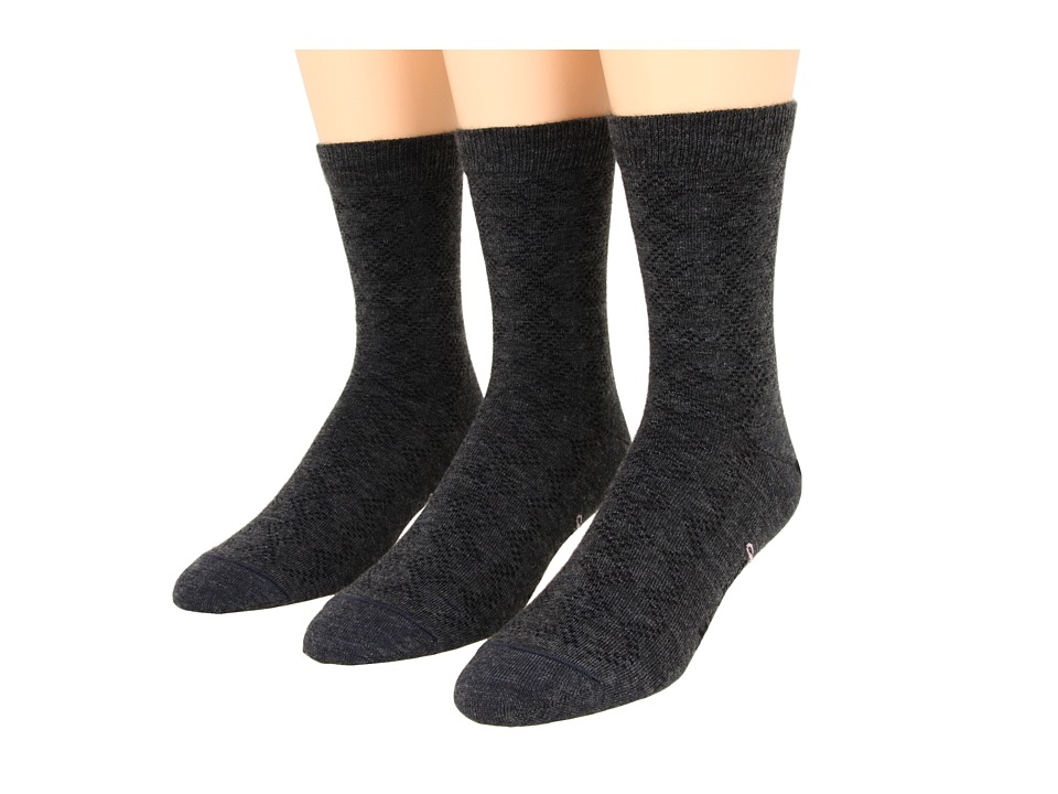 Fox River - Pointelle Crew 3-Pair Pack (Dark Charcoal) Women's Crew Cut Socks Shoes