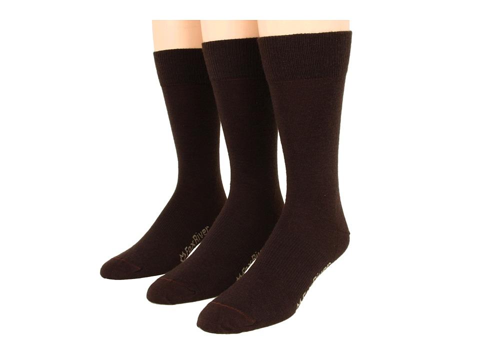 Fox River - Jersey Dress 3-Pair Pack (Chestnut) Men's Crew Cut Socks Shoes