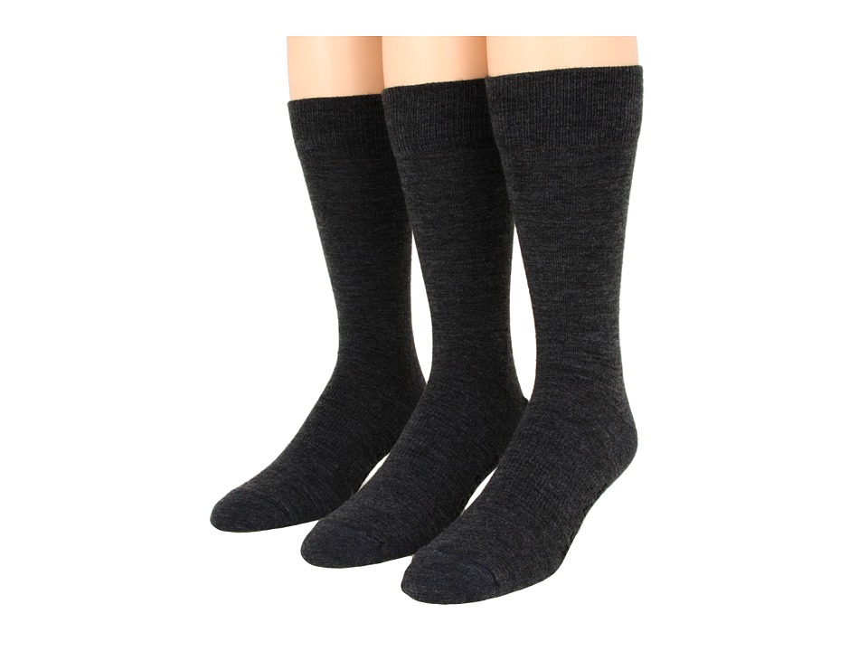 Fox River - Jersey Dress 3-Pair Pack (Dark Charcoal) Men's Crew Cut Socks Shoes