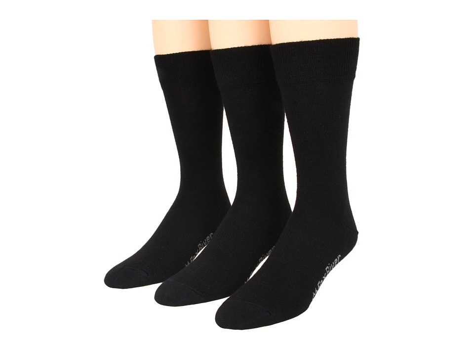 Fox River - Jersey Dress 3-Pair Pack (Black) Men's Crew Cut Socks Shoes